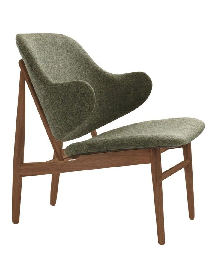 Veronic Lounge Chair Walnut & Forrest Fabric image 1