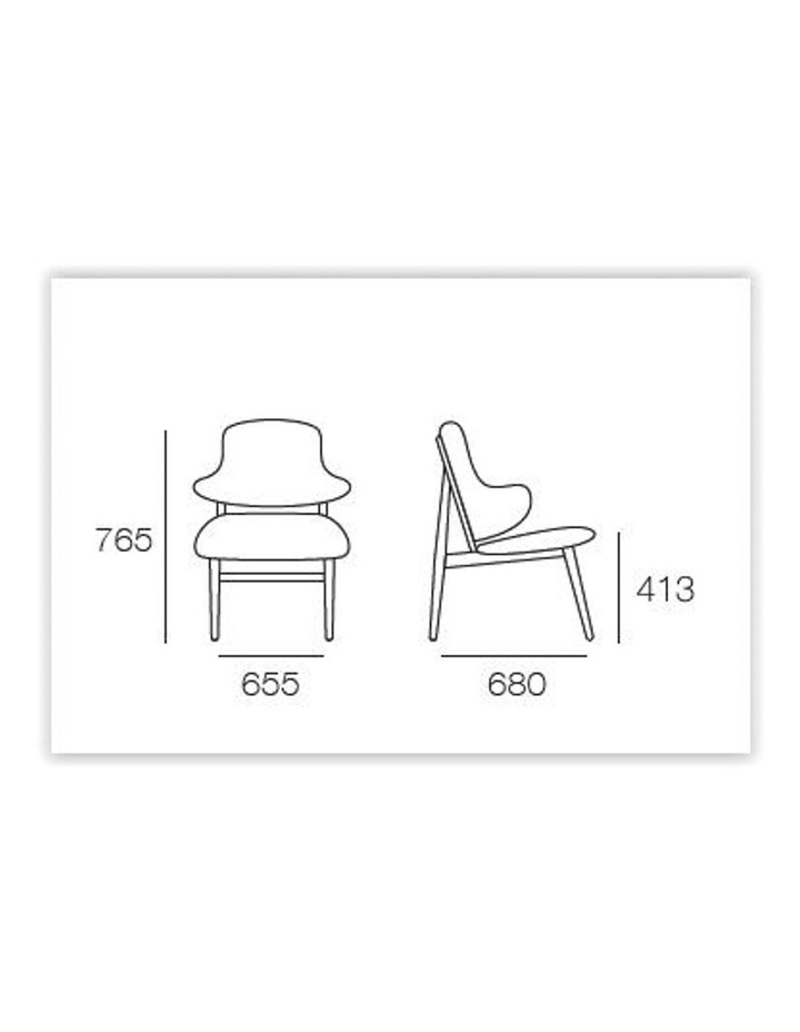 Veronic Lounge Chair Walnut & Forrest Fabric image 2