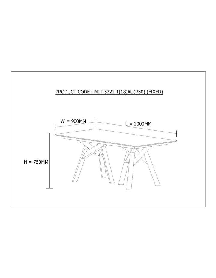 Monty Dining Table 2.0M - Black image 5