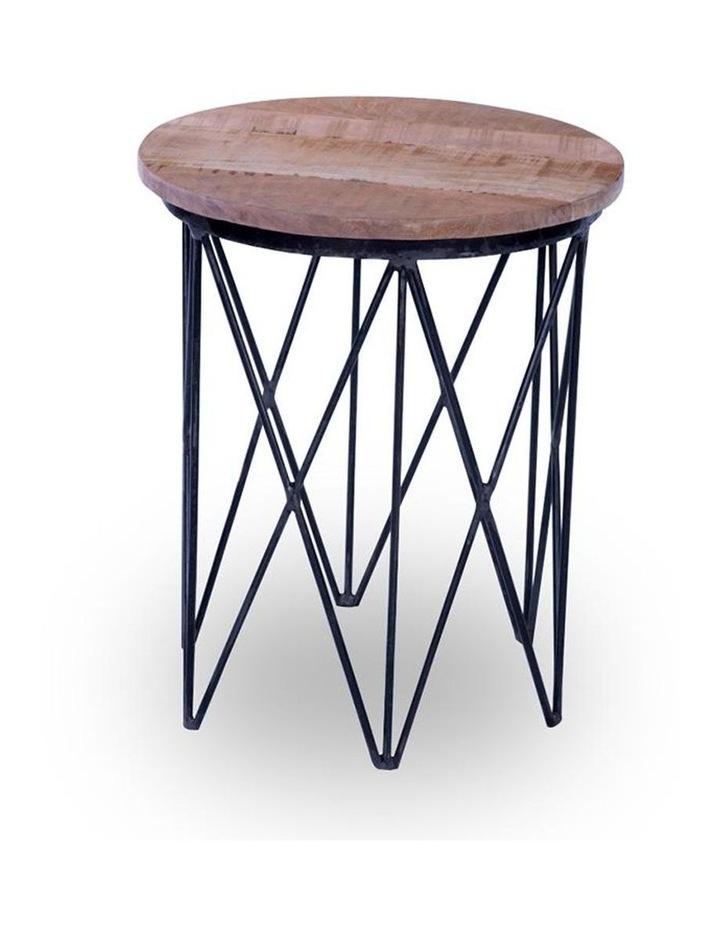 Taya Side Table - Solid Mango Wood & Iron image 1