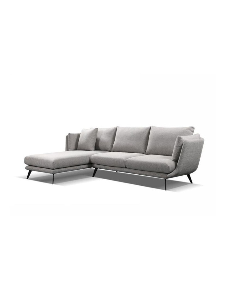 Ranni 3 Seater Sofa With Left Chaise - Light Grey image 1
