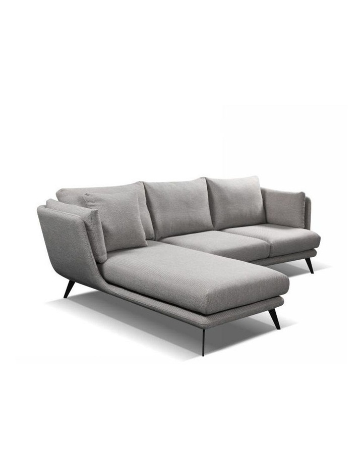 Ranni 3 Seater Sofa With Left Chaise - Light Grey image 2