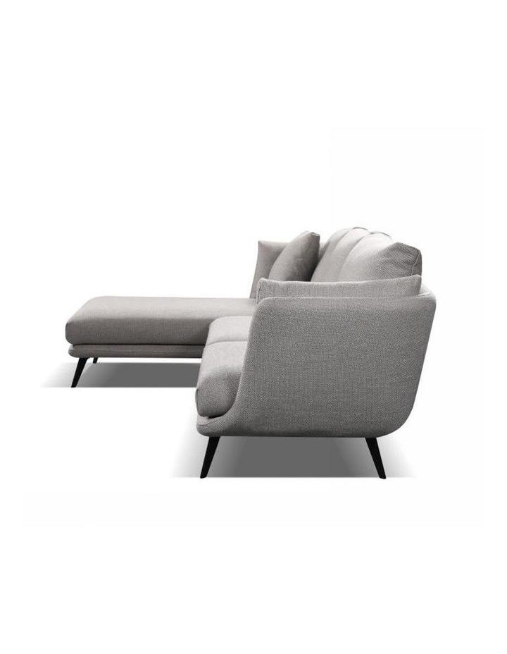 Ranni 3 Seater Sofa With Left Chaise - Light Grey image 3