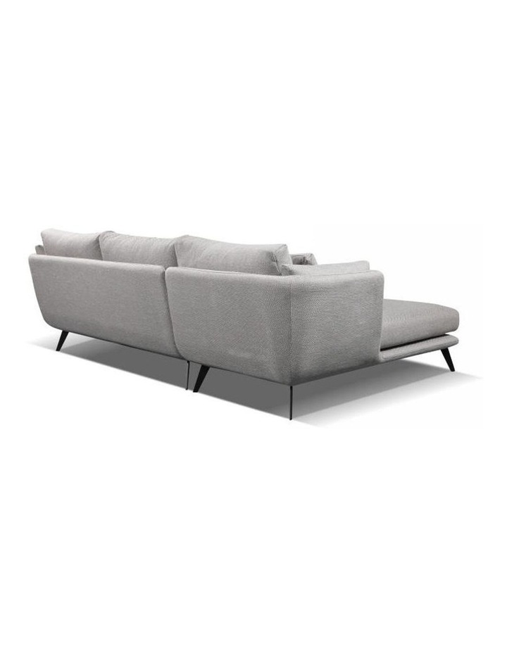 Ranni 3 Seater Sofa With Left Chaise - Light Grey image 4