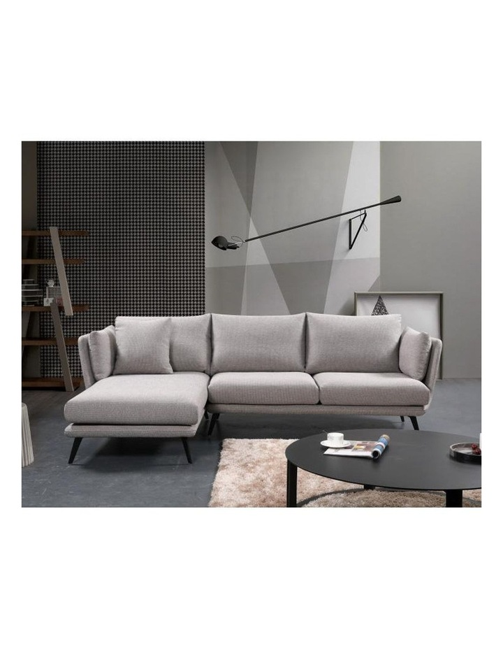 Ranni 3 Seater Sofa With Left Chaise - Light Grey image 5