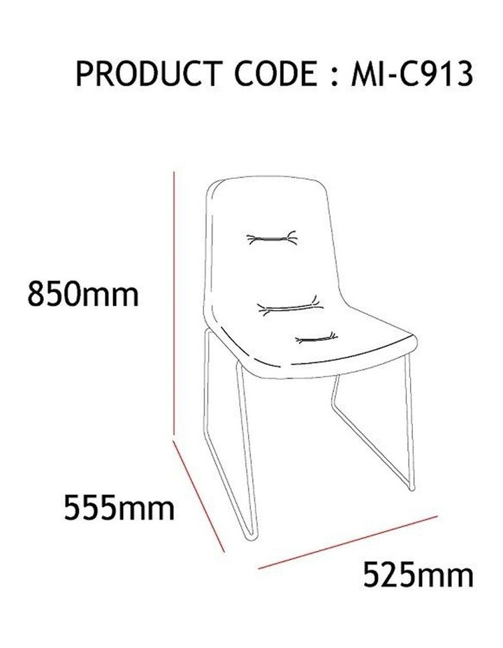 Norvin Dining Chair - Black & Blue image 5