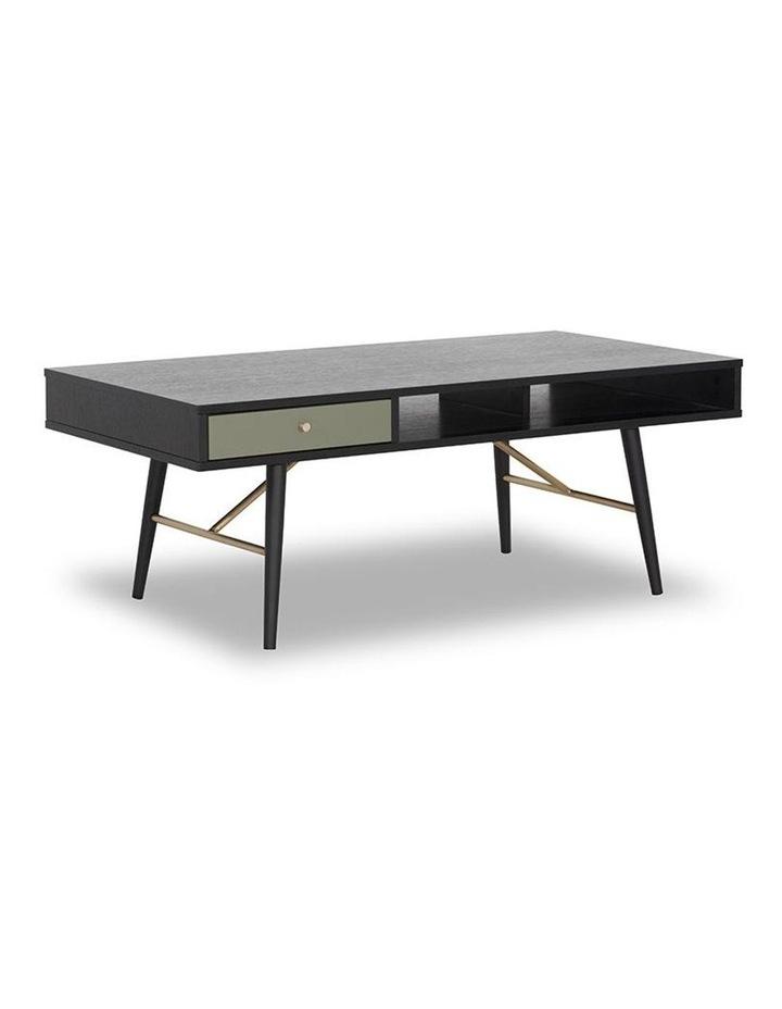 Omari 117cm Black & Green Oak Coffee Table image 1