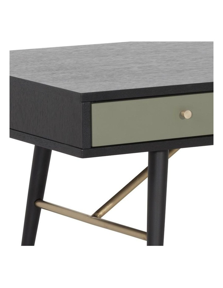 Omari 117cm Black & Green Oak Coffee Table image 2