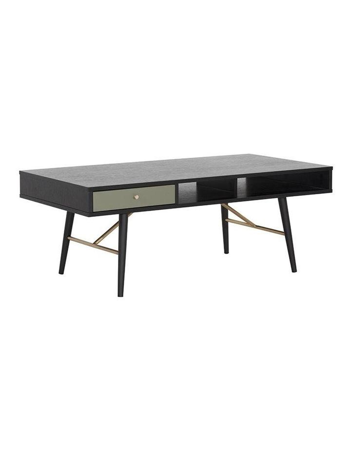 Omari 117cm Black & Green Oak Coffee Table image 3
