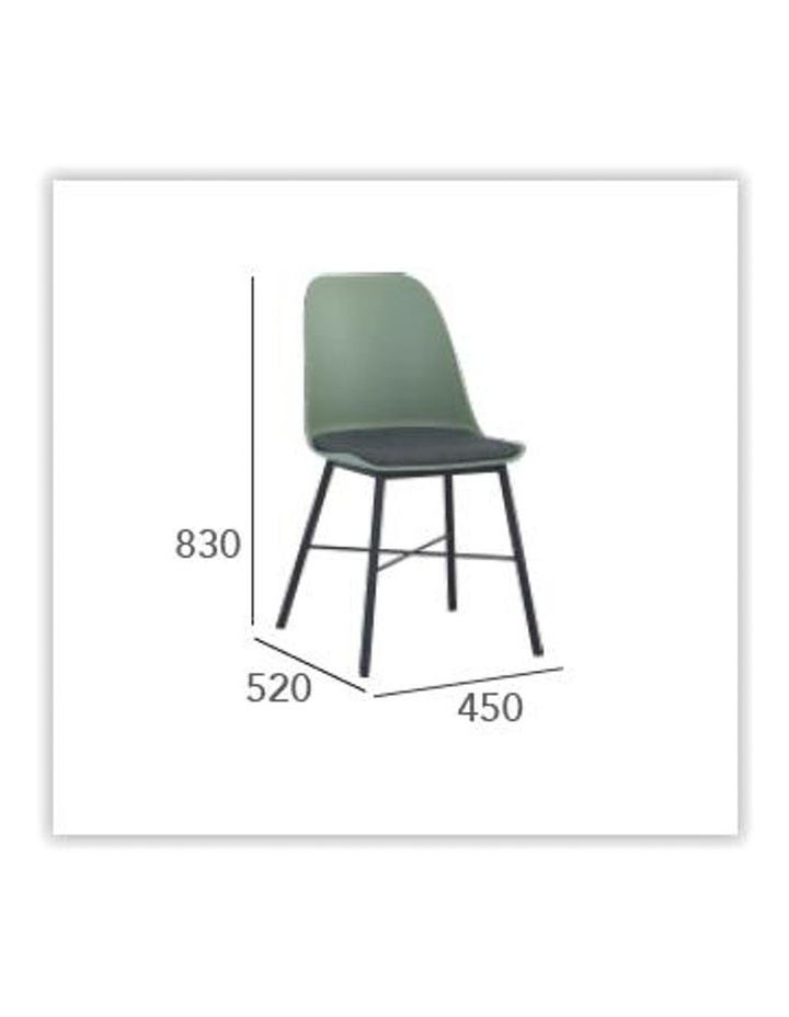 Laxmi Dining Chair - Dusty Green & Black image 5