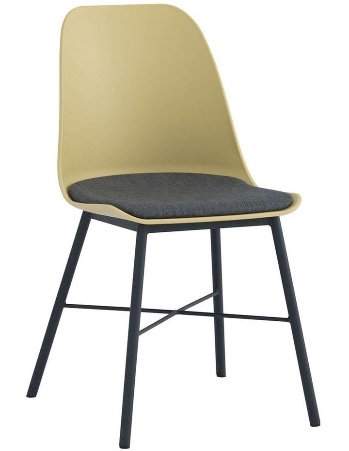 Laxmi Dining Chair - Dusty Yellow & Black image 1