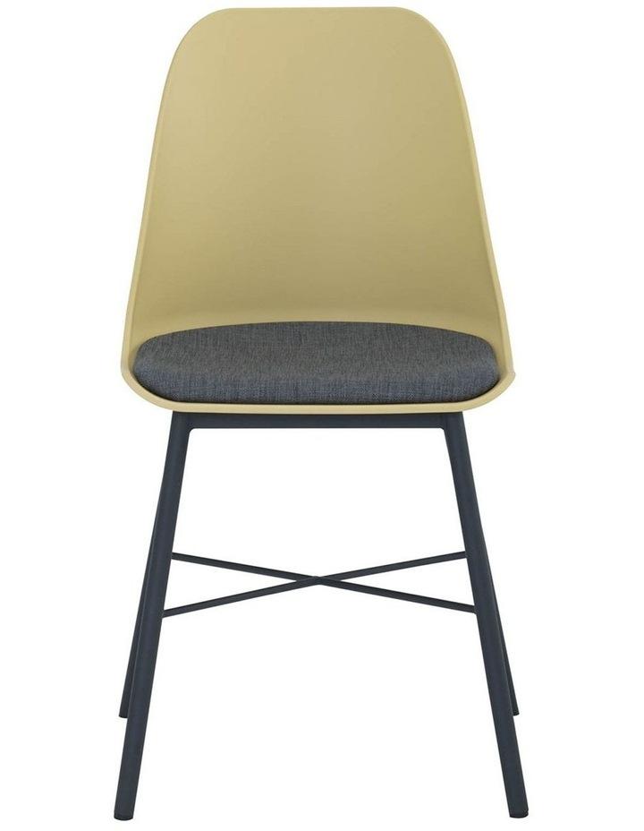 Laxmi Dining Chair - Dusty Yellow & Black image 2