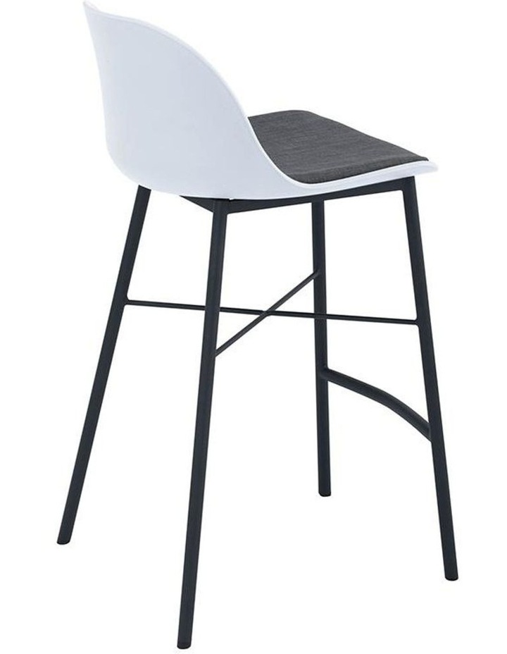 Laxmi Counter Stool - White & Black image 3