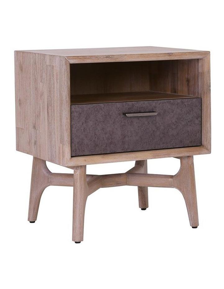 Corbin Bedside Table Solid Wood 55cm - Havana Sandblast image 1