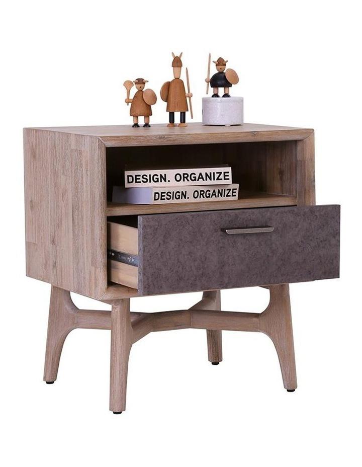 Corbin Bedside Table Solid Wood 55cm - Havana Sandblast image 2