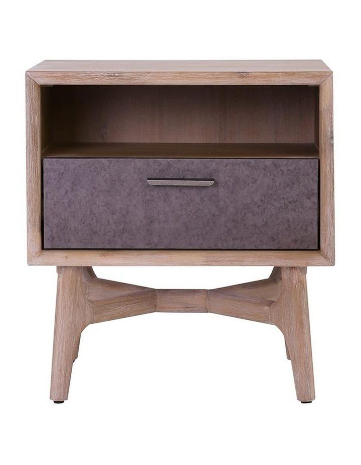 Corbin Bedside Table Solid Wood 55cm - Havana Sandblast image 3