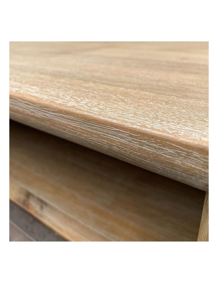Corbin Bedside Table Solid Wood 55cm - Havana Sandblast image 4