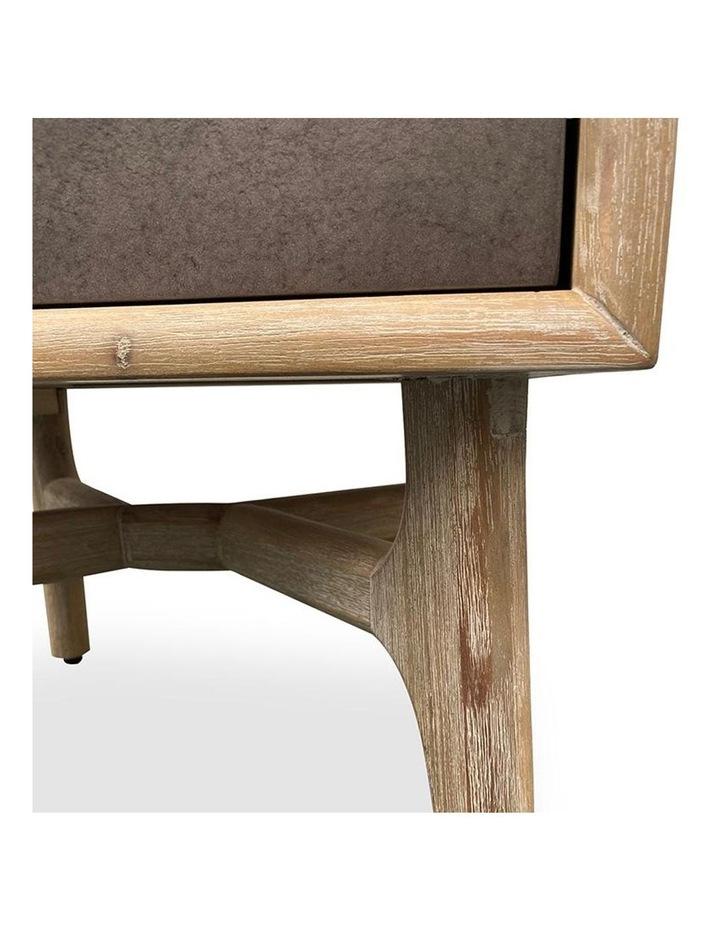 Corbin Bedside Table Solid Wood 55cm - Havana Sandblast image 5