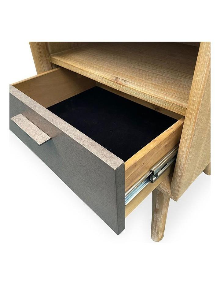 Corbin Bedside Table Solid Wood 55cm - Havana Sandblast image 7