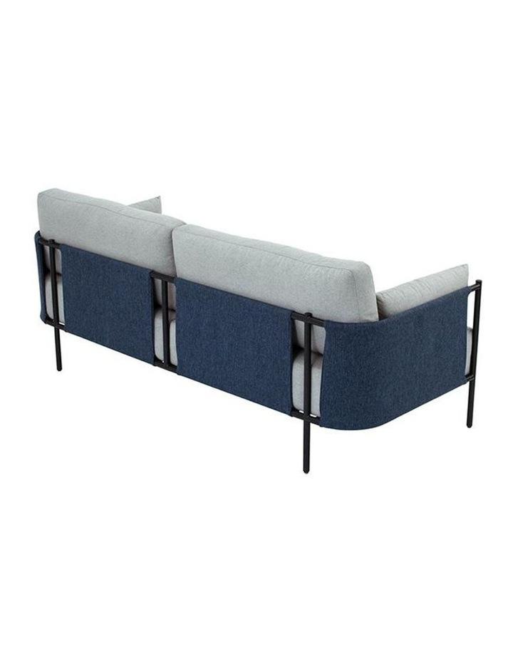 Tredia 3 Seater Sofa - Silver & Midnight Blue image 3