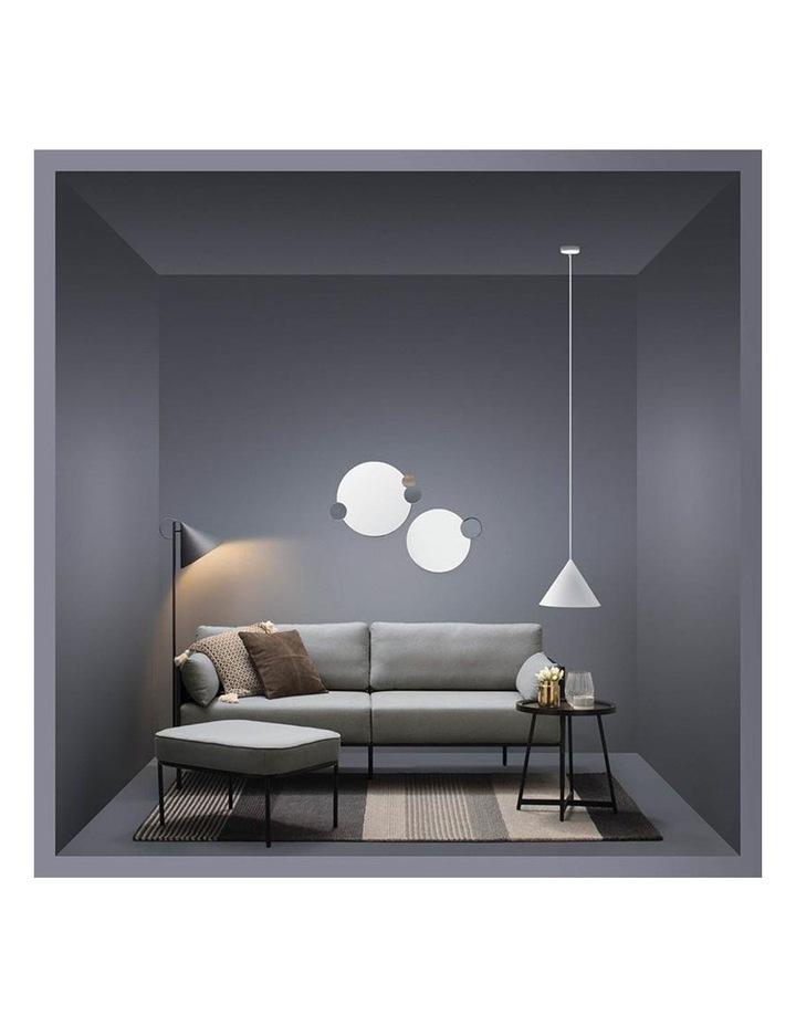 Tredia 3 Seater Sofa - Silver & Midnight Blue image 4