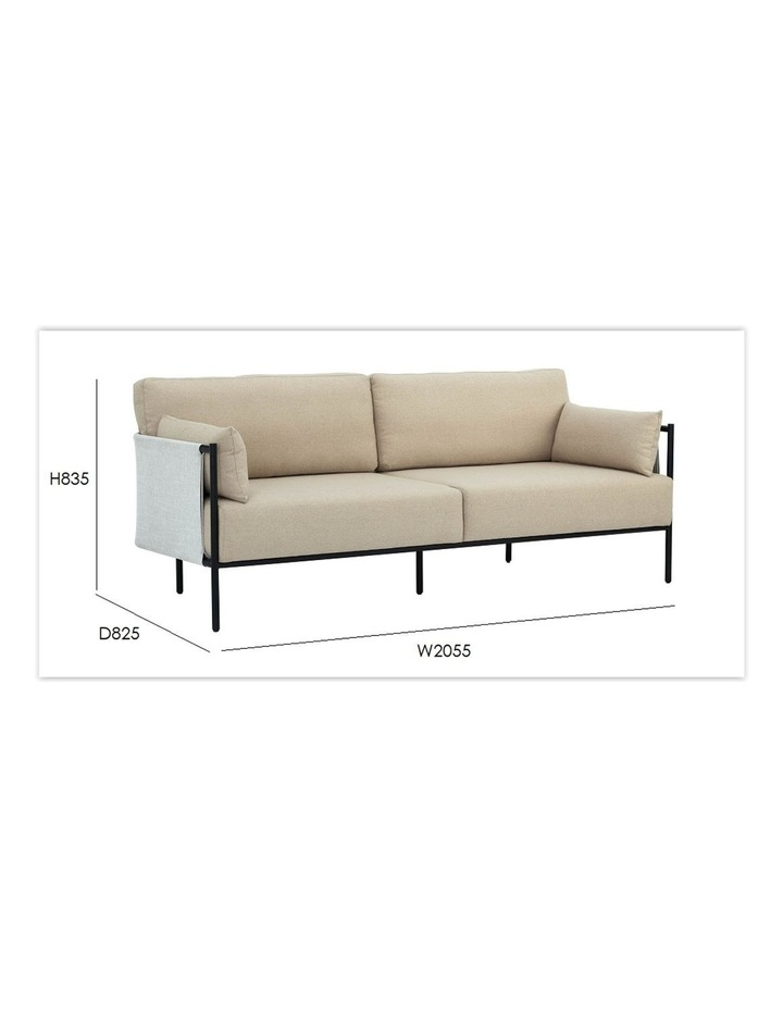 Tredia 3 Seater Sofa - Silver & Midnight Blue image 5