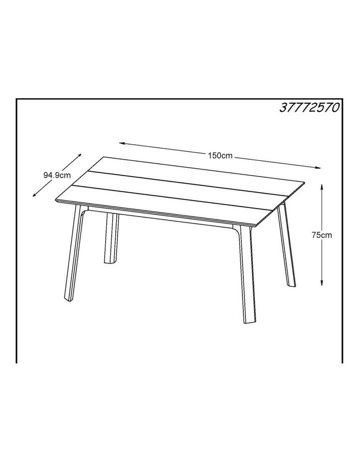 Capri Dining Table 1.5M -  Natural image 3
