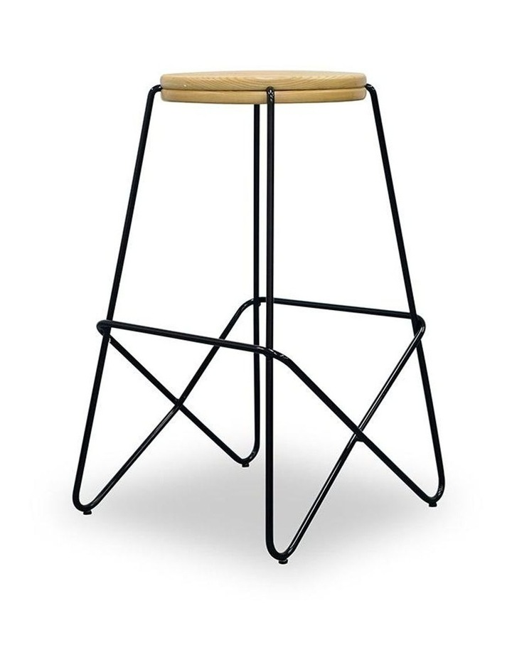 Stark Wooden Topped  Counter Stool image 1