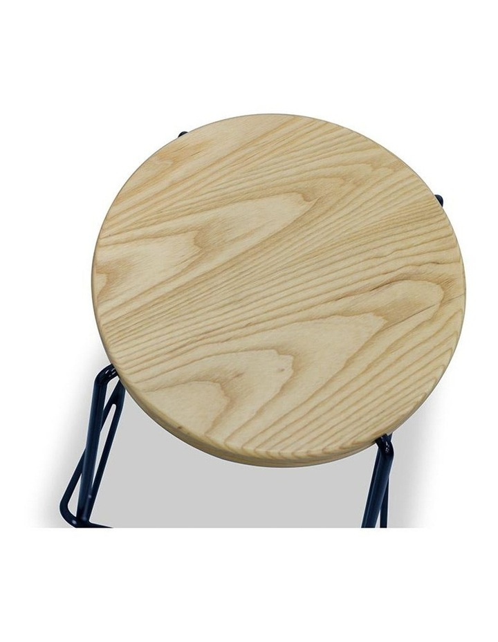 Stark Wooden Topped  Counter Stool image 3
