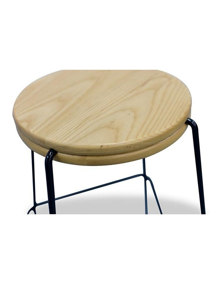 Stark Wooden Topped  Counter Stool image 5