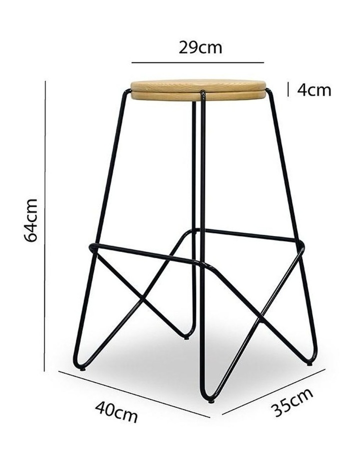 Stark Wooden Topped  Counter Stool image 7