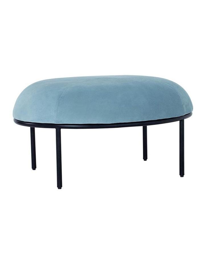 Vamos Oval Footstool/Ottoman 80cm - Jade & Black image 1