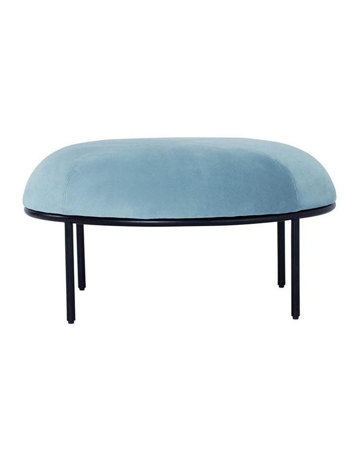 Vamos Oval Footstool/Ottoman 80cm - Jade & Black image 2