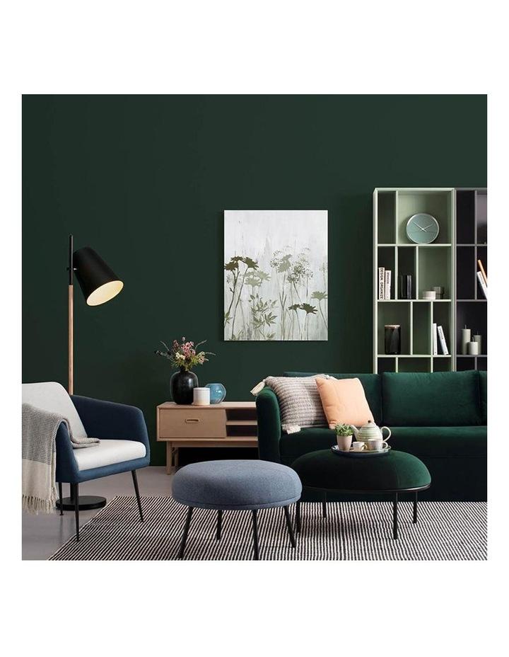 Vamos Oval Footstool/Ottoman 80cm - Jade & Black image 4