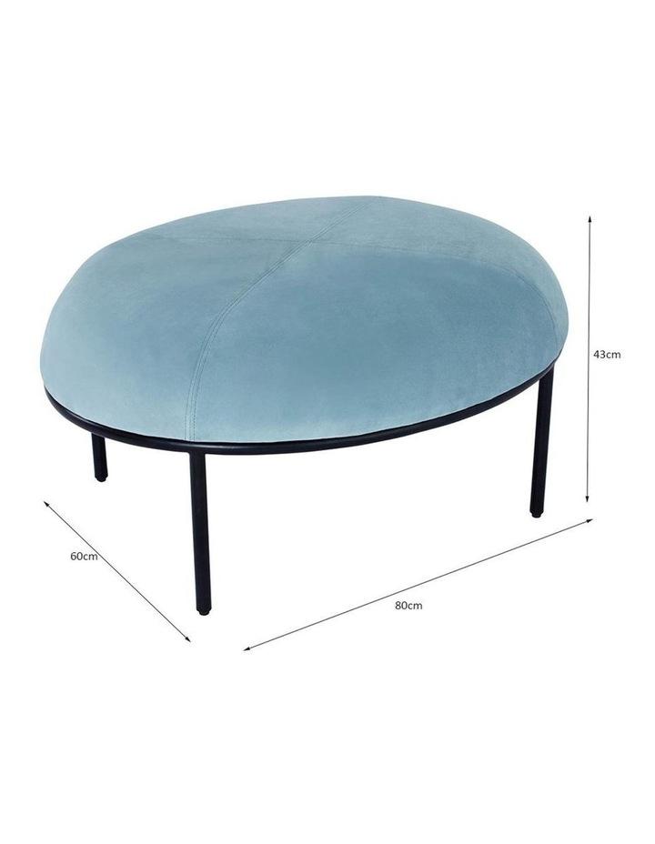 Vamos Oval Footstool/Ottoman 80cm - Jade & Black image 5