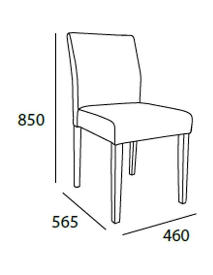 Ladee Dining Chair Cocoa and Dark Grey image 4