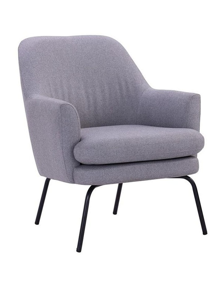 Lucian Lounge Chair - Pewter Grey image 1