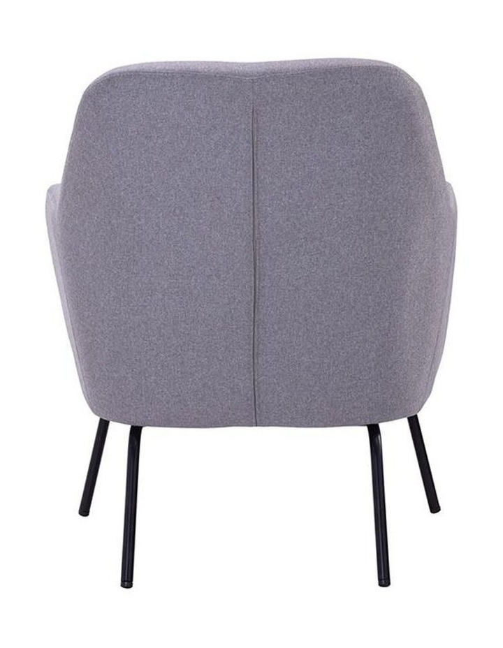 Lucian Lounge Chair - Pewter Grey image 4