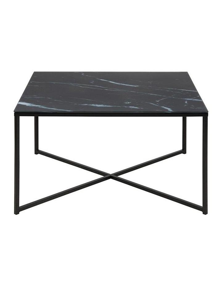 Kolina Glass Coffee Table 80cm Black image 3
