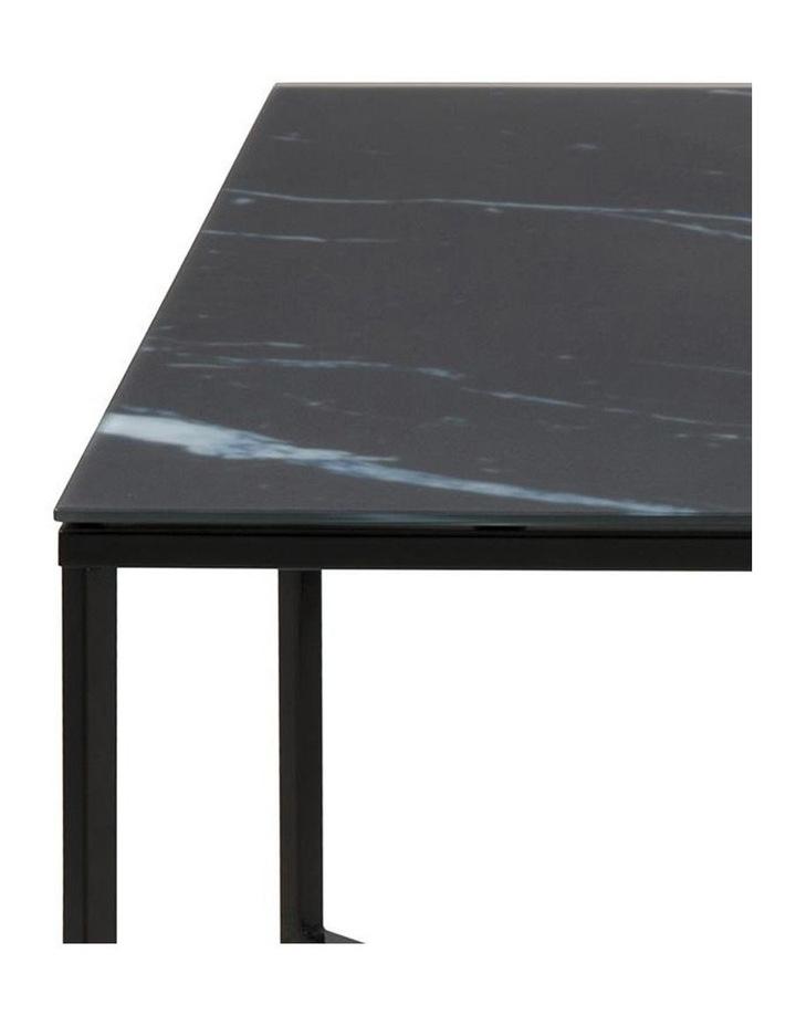 Kolina Glass Coffee Table 80cm Black image 4