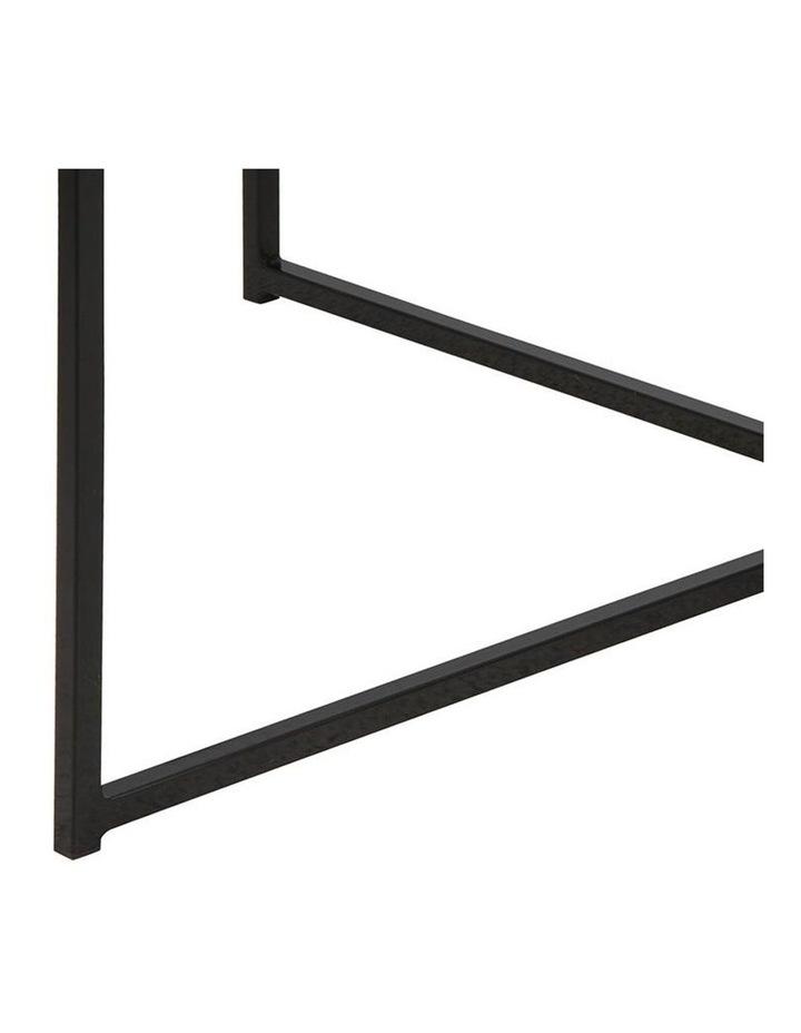 Kolina Glass Coffee Table 80cm Black image 5