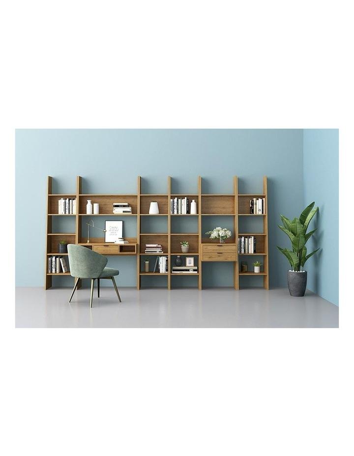 Berlai Study Desk Bookshelf Unit 100cm Natural image 2