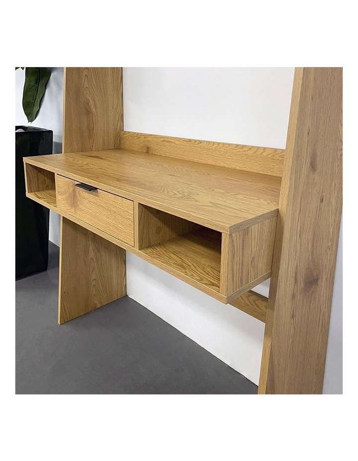 Berlai Study Desk Bookshelf Unit 100cm Natural image 6