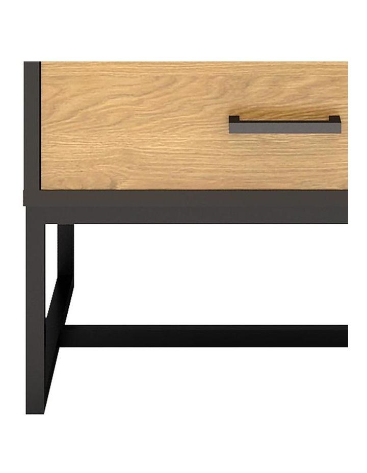 Amster Bedside Table 50cm  - Natural & Black image 3
