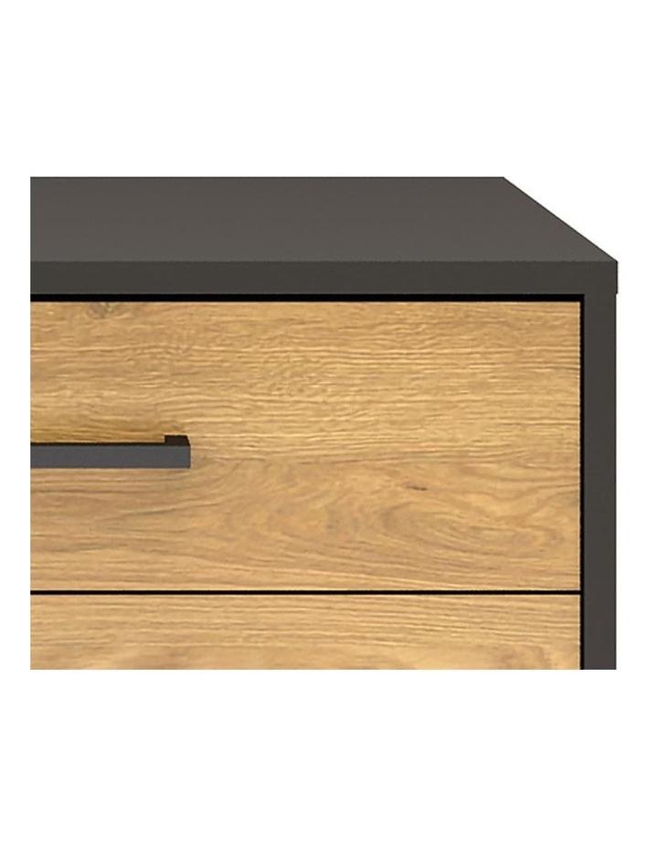 Amster Bedside Table 50cm  - Natural & Black image 4