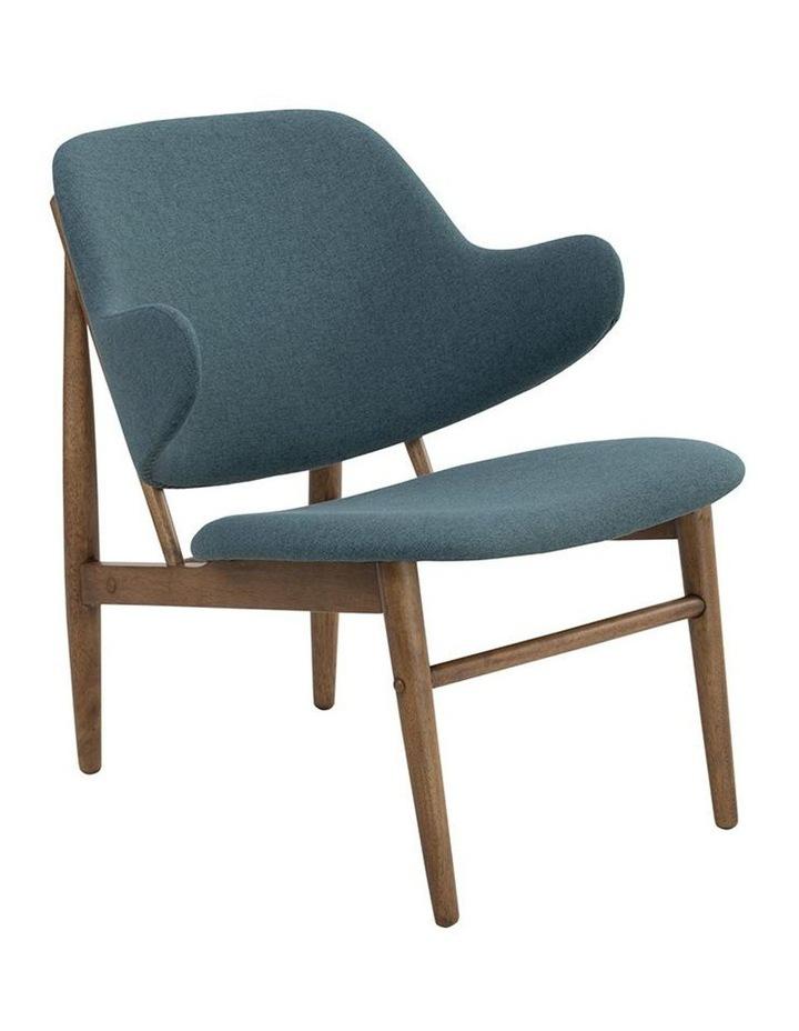 Veronic Lounge Chair - Cocoa & Nile Green image 1