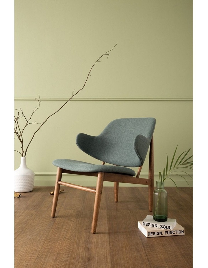 Veronic Lounge Chair - Cocoa & Nile Green image 2