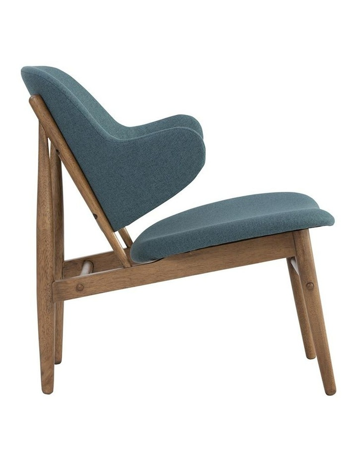 Veronic Lounge Chair - Cocoa & Nile Green image 4