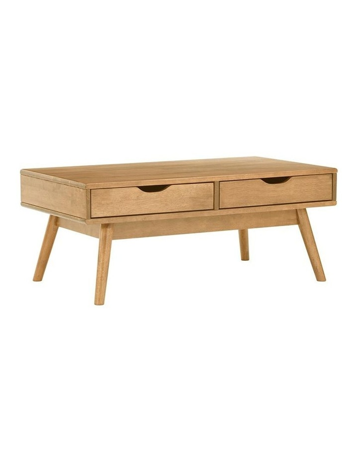 Lamar Coffee Table With 2 Drawers 106cm - Natural image 1