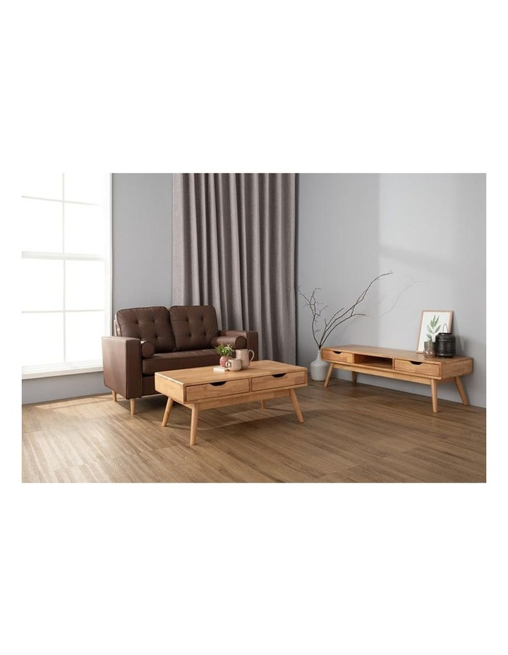 Lamar Coffee Table With 2 Drawers 106cm - Natural image 2